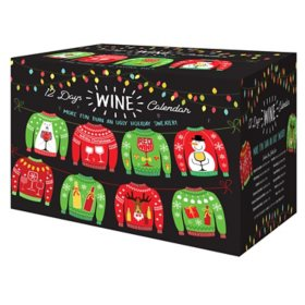 Holiday Sweater Wine Gift Pack (187ml Bottle, 12 ct.)