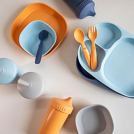 Mighty Good Home Essentials 28-Piece Children's Tableware Set (Assorted Colors)