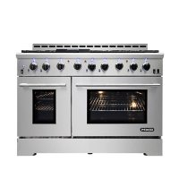 """NXR Stainless Steel 48"""" Professional Style Liquid Propane Range with Convection Oven with LED Lights"""