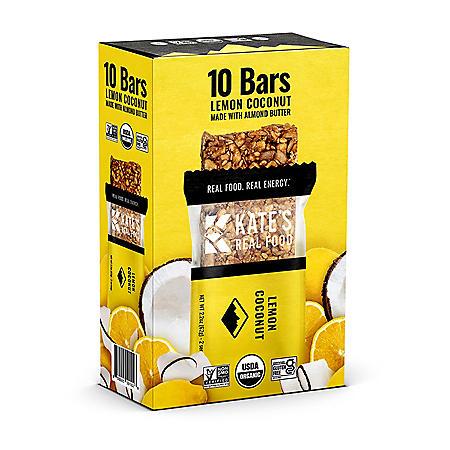 KATE'S REAL FOOD Energy Bar, Lemon Coconut (10 pk.)