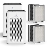 Medify Air MA-25 Purifier, H13 HEPA Filter 2-Pack (White)