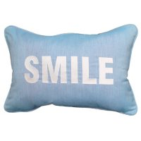 """Embroidered Outdoor Decorative Accent Pillow in Sunbrella Fabric, 14"""" x 20"""""""