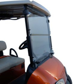 King B EZGO RXV Hinged Golf Car Windshield