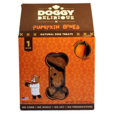 Doggy Delirious Dog Treats - Pumpkin Bones