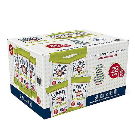 SkinnyPop Popcorn Snack Bags (0.65 oz., 28 pk.)