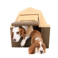 """ASL Solutions Insulated DP Hunter Dog House with Floor Heater and Fan (23.5""""H x 26""""W x 29""""H)"""