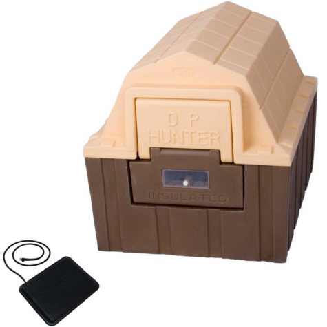 "ASL Solutions Insulated DP Hunter Dog House With Floor Heater (23.5""H x 26""W x 29""H)"