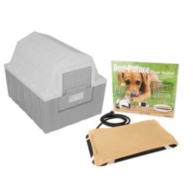"""ASL Solutions Insulated DP Hunter Dog House With Floor Heater, Gray (26""""W x 29""""L x 23.5""""H)"""