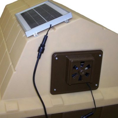 Asl Solutions Dog House Solar Powered Exhaust Fan Choose Your Size Sam S Club