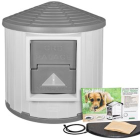 ASL Solutions Insulated Colossal Round Barn CRB Dog Palace with Floor Heater (Choose your Color)