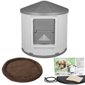 Asl Solutions Insulated Colossal Round Barn Dog House Crb Dog