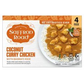 Saffron Road Coconut Curry Chicken with Basmati Rice, Frozen (4 pk.)