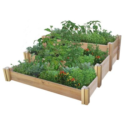 Multi-Level Rustic Raised Garden Bed 48 x 50 x 19