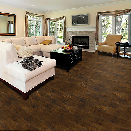 Select Surfaces Click Laminate Flooring - Vintage Walnut