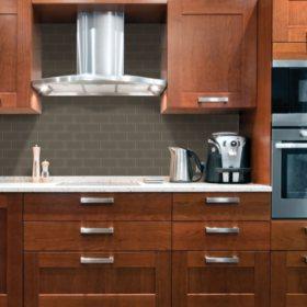 Select Surfaces Charcoal Glass Wall Tile