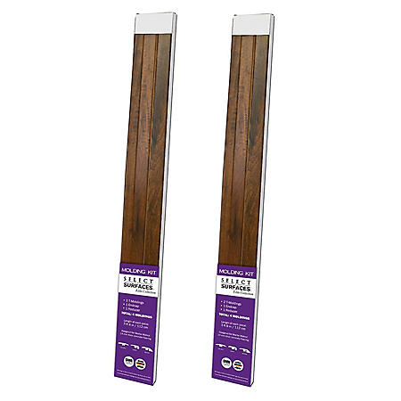 Select Surfaces Mocha Walnut Molding Kit (2 pk.)