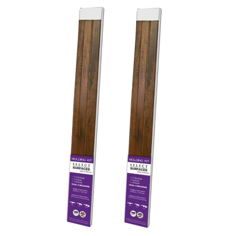 Select Surfaces Mocha Walnut Molding Kit (2 pk.)