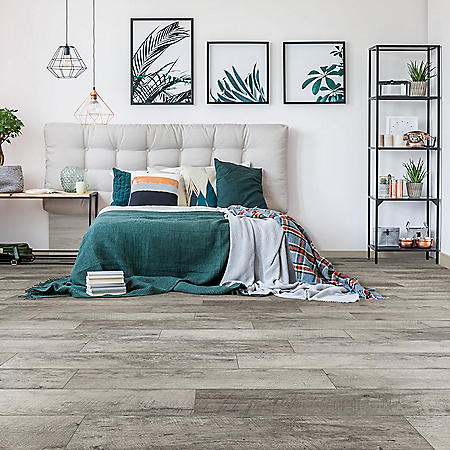 Select Surfaces Rustic Gray Spill Defense Laminate Flooring