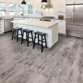 Select Surfaces Rustic Gray Spill Defense Laminate Flooring Sam S Club