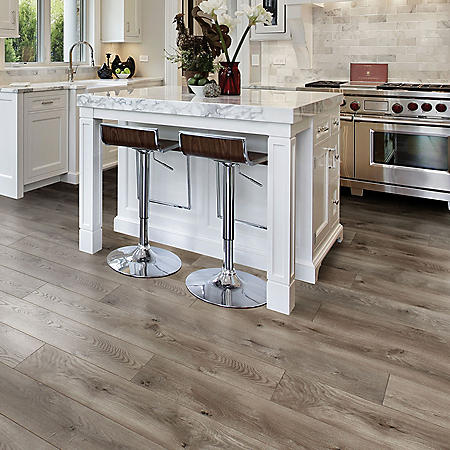 Select Surfaces Warm Gray Spill Defense Laminate Flooring
