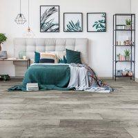 Select Surfaces Rustic Gray Spill Defense Laminate Flooring