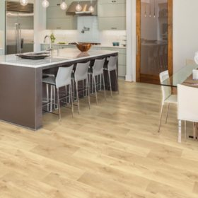 Select Surfaces Blonde Oak Spill Defense Laminate Flooring