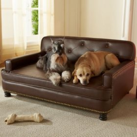 Enchanted Home Pet Pebble Brown Library Pet Sofa, Large Dogs Up To 90 lbs