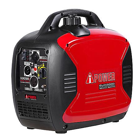 A-iPower Ultra-Quiet 1,600 / 2,000 Watt Inverter Generator (CARB Compliant)