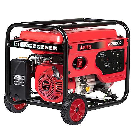 A-iPower 4,000 / 5,000 Watt Gasoline Powered Generator with Manual Start