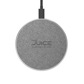 Tech Squared 2-Pack Premium Fabric Wireless Charger 7.5/10W Fast Wireless Charging Pad