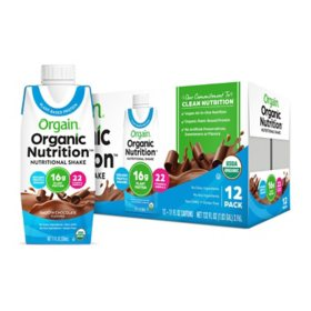 Orgain? Organic Nutrition? Vegan All-in-One Protein RTD Shake Plant Based Smooth Chocolate (12 ct.)