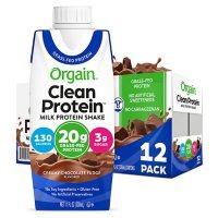 Orgain Clean Protein Grass Fed Shake, Creamy Chocolate Fudge (12 ct.)
