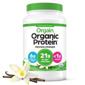 Orgain Organic Protein Plant Based Powder Vanilla Bean (2.74 lbs.)