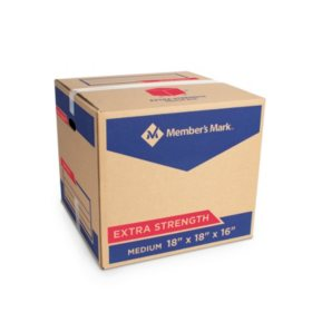 "Member's Mark, Medium Extra Strength Box, 18"" x 18"" x 16"", Kraft"