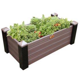 Black/Walnut Maintenance-Free Elevated Garden Bed (Various Sizes)