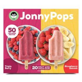 JonnyPops Frozen Fruit and Cream Bars Variety Pack (20 ct.)