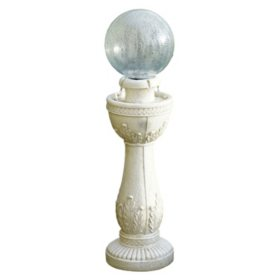 Glass Crackle Ball Fountain - White Stone