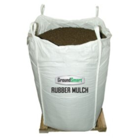 GroundSmart Rubber Mulch Mocha Brown 76.9 cu ft Super Sack (Assorted Sizes)