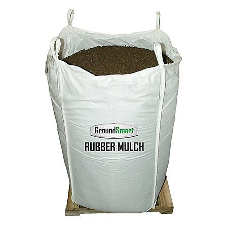 GroundSmart Rubber Mulch Mocha Brown 38.5 cuft SuperSack