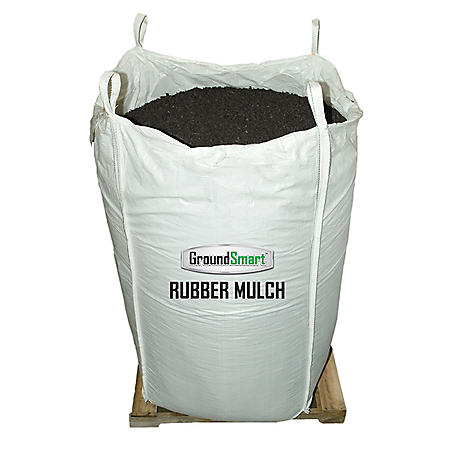 GroundSmart Rubber Mulch Espresso Black 76.9 cu ft Super Sack (Assorted Sizes)