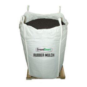 GroundSmart Rubber Mulch Espresso Black 38.5 cuft SuperSack