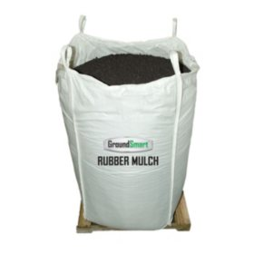 GroundSmart Rubber Mulch Espresso Black 38.5 cuft SuperSack