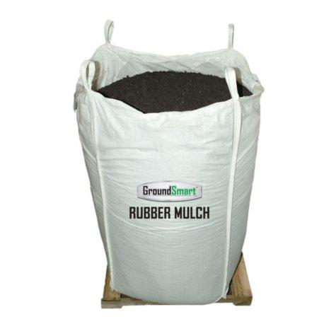 GroundSmart Rubber Mulch - Espresso Black 38.5 cubic feet  (SuperSack)