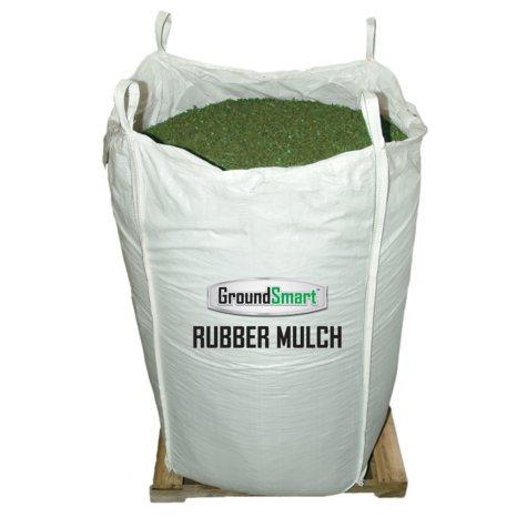 GroundSmart Rubber Mulch - Green 38.5 cubic feet (SuperSack)