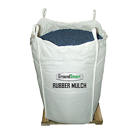 GroundSmart Rubber Mulch Blue 38.5 cuft SuperSack