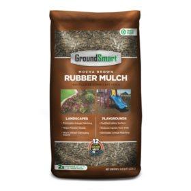 GroundSmart Rubber Mulch Mocha Brown 78.4 cuft (98 Bags/.8cuft)