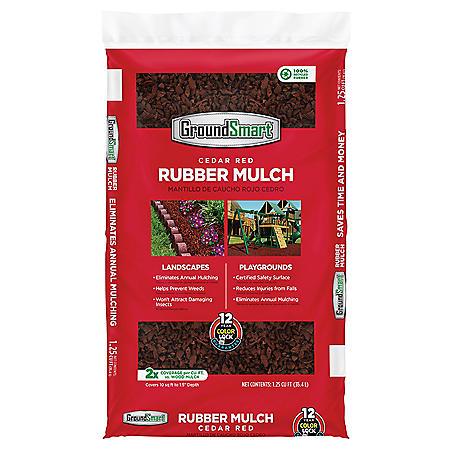GroundSmart Rubber Mulch, Cedar Red (1.25 cu. ft. bag)