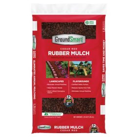 GroundSmart Rubber Mulch, Cedar Red (1.25 cu. ft. bag)