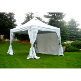 UnderCover 10'x10' Craft Show Instant Canopy with Clip-On Curtain Walls
