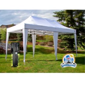 UNDERCOVER 10' x 20' Professional Instant Canopy Aluminum Octagonal Frame, Wheel-Bag and Spikes
